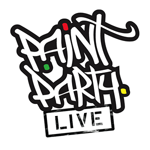 Paint Party Live Logo by All Out Design