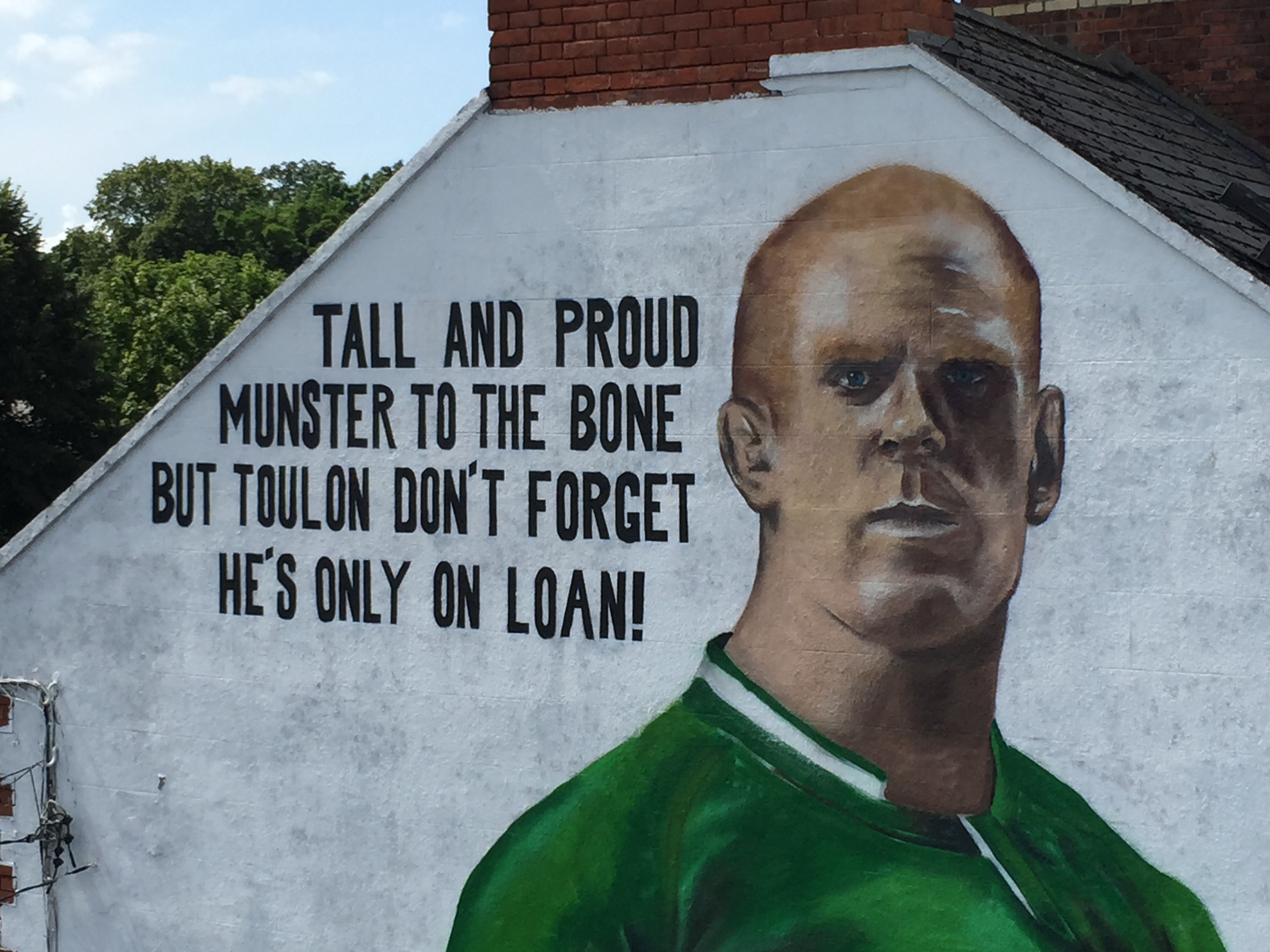 How we created our Paul O'Connell mural in Limerick